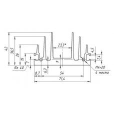 Профиль алюминиевый АВА -2261 6063 Т6 БП 2